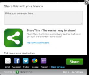 ShareThis widget bij Mouse Over   Easy WordPress Website