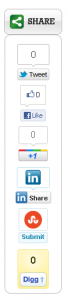 Slick Social Share Buttons | Easy WordPress Website