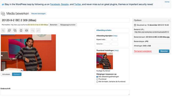 Afbeelding bewerken in WordPress 3.5 | Easy WordPress Website