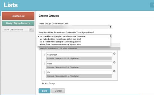 MailChimp groepen aanmaken | Easy WordPress  Website