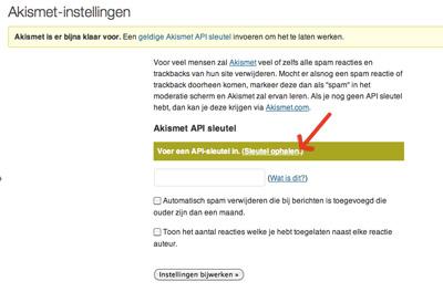 Akismet Api-sleutel ophalen  | Easy WordPress Website | Biz2Web
