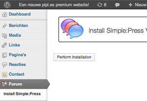Install Simple:Press | Easy WordPress Website | Biz2Web