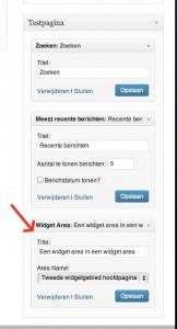 Simple Page Sidebars Instellen Widget Area vullen | Biz2Web