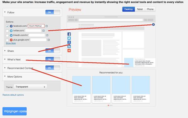 Dashboard AddThis Smart Layers | Biz2Web