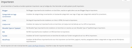 Mogelijkheden voor blogs importeren naar jouw WordPress website