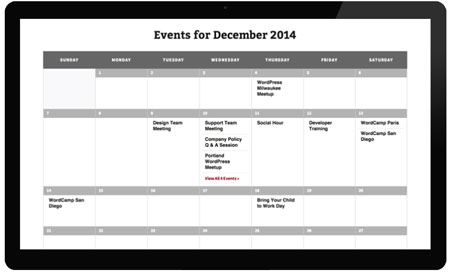The Events Calendar by Modern Tribe
