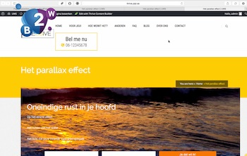 Parallax-effect met Thrive Contetn Builder | Biz2Web